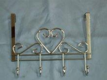 Heart Over Door hangers with 4 hooks