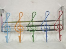 Musical Notes Over Door Hangers with 5 hooks